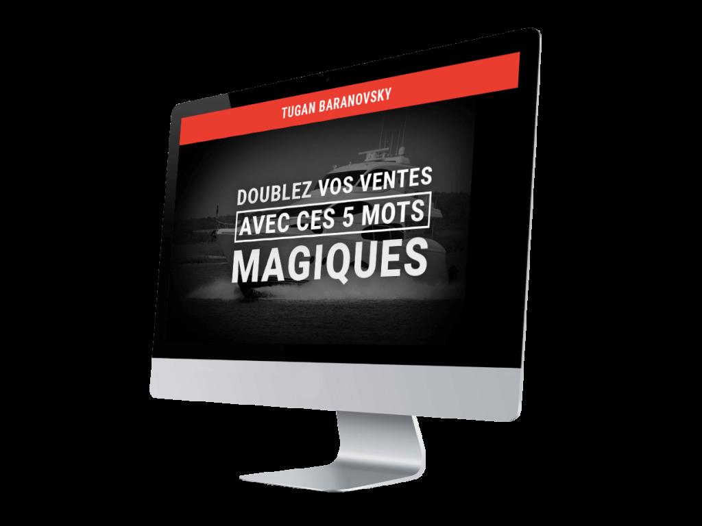 Bonus #2: Doublez vos ventes avec ces 5 mots magiques