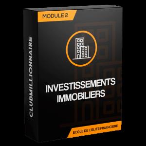 Module 2: Investissement immobilier (28 heures)