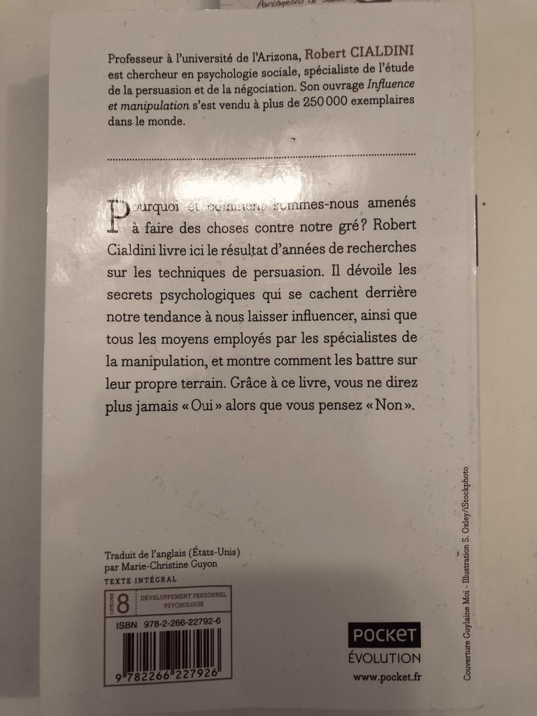 Livre de Robert Cialdini