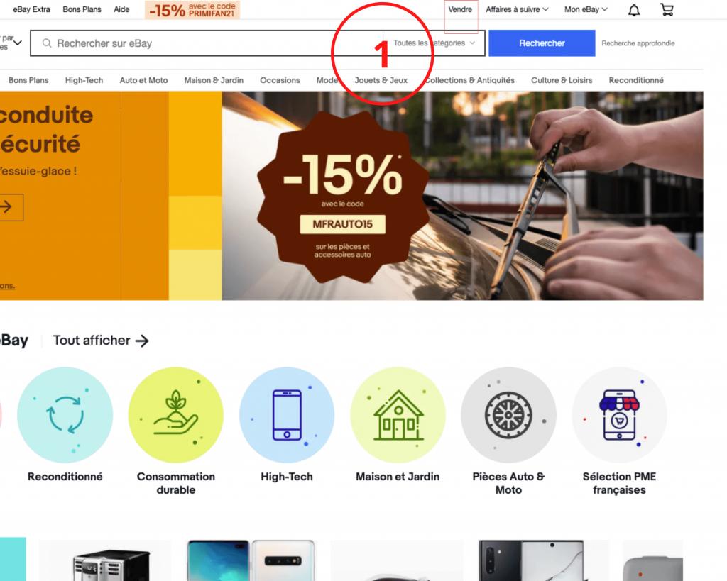 La plateforme Ebay