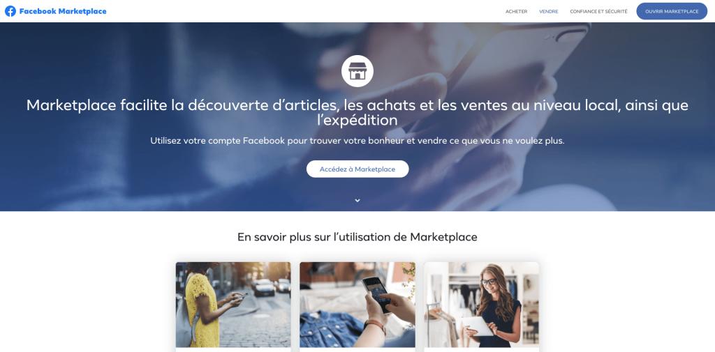 Plateforme Facebook marketplace