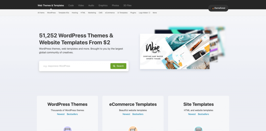 Theme WordPress sur Themeforest