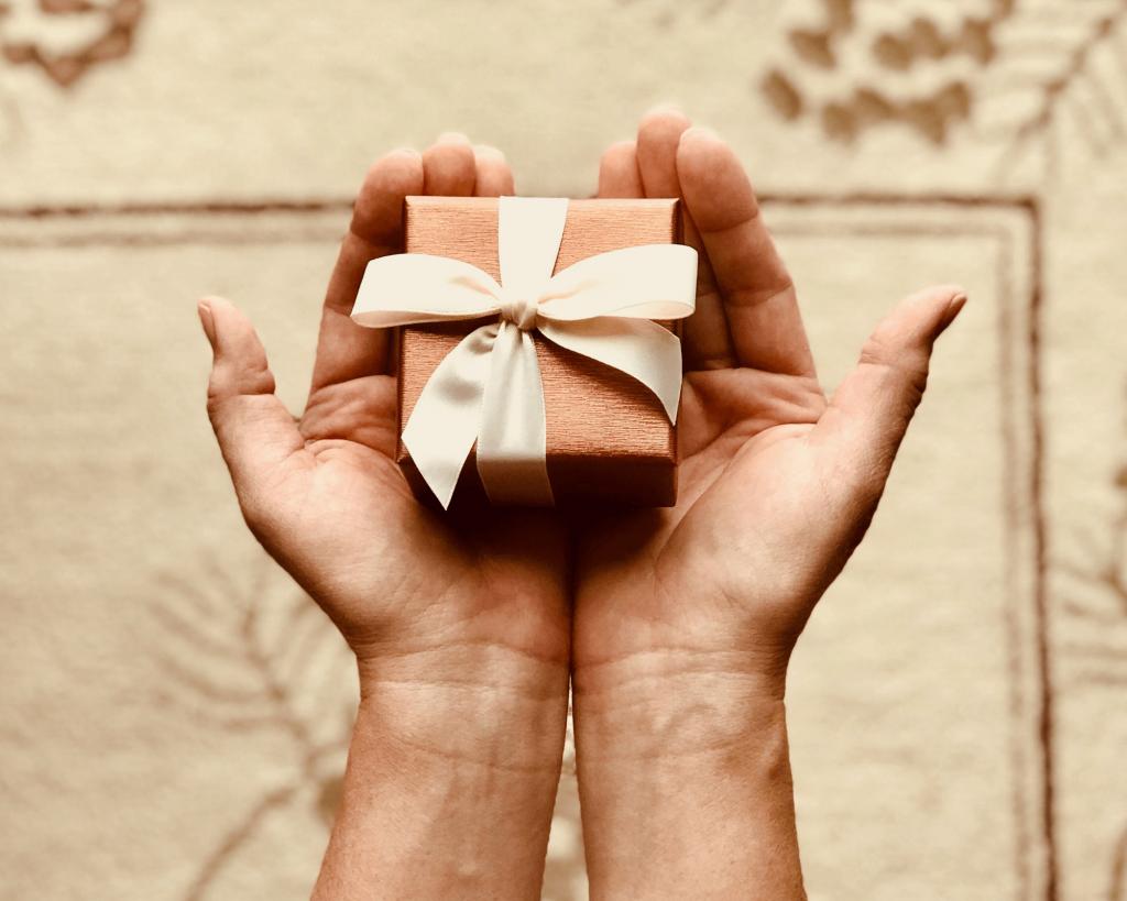 Une carte cadeaux