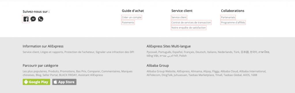 Informations sur Aliexpress