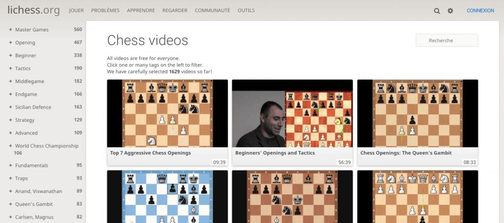 Videothèque échecs