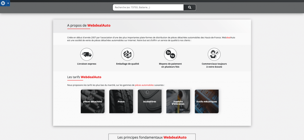 Web deal auto entreprise