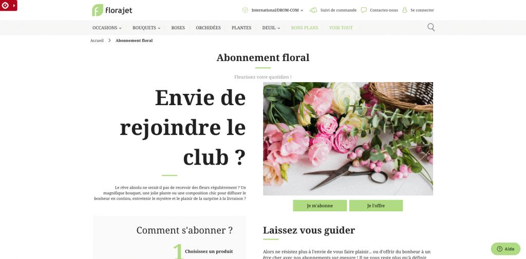 Abonnements Florajet